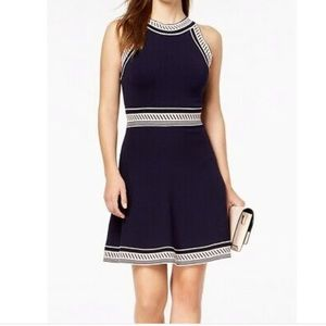 Vince Camuto Fit & Flare Halter Sweater Dress